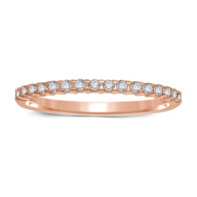10K Rose Gold .14 cttw Prong-Set Diamond Size 8.5 Ladies' Wedding Band