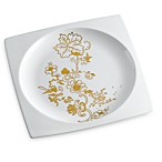 Plato Floral Accent Plate in Gold