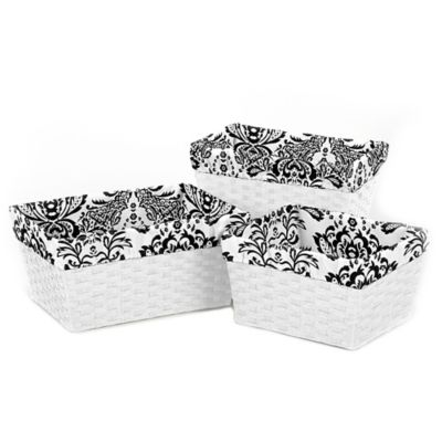 Sweet Jojo Designs Sophia Basket Liners (Set of 3)
