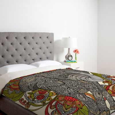 DENY Designs Valentina Ramos Bo The Elephant Queen Duvet Cover in Red