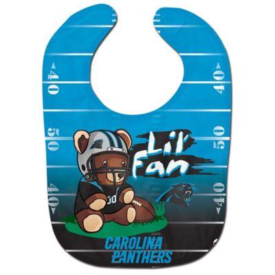 """NFL Carolina Panthers """"Lil' Fan"""" Teddy Bear Bib"""