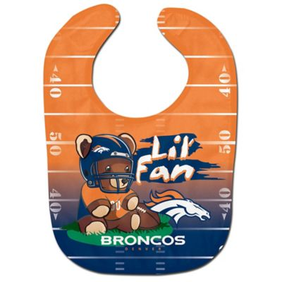 "NFL Denver Broncos ""Lil' Fan"" Teddy Bear Bib"