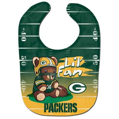 "NFL Greenbay Packers ""Lil' Fan"" Teddy Bear Bib"