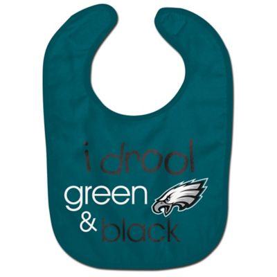 "NFL Philadelphia Eagles ""I Drool Green & Black"" Bib"