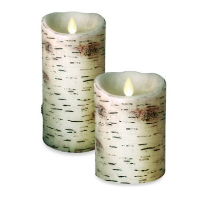 Luminara™ 5-Inch Birch Pillar Candle