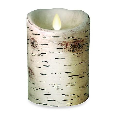 Buy Luminara 5 Inch Birch Pillar Candle From Bed Bath