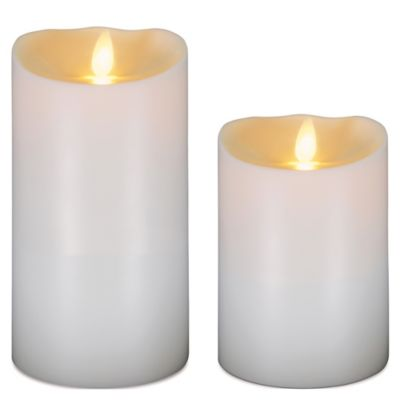 Luminara 7-Inch Outdoor Pillar LED Candle in Ivory
