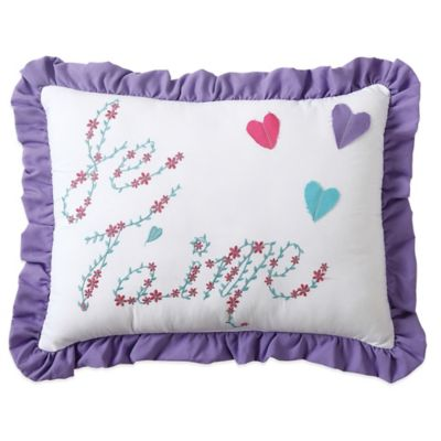 Amanda Embroidered Oblong Throw Pillow in Multi