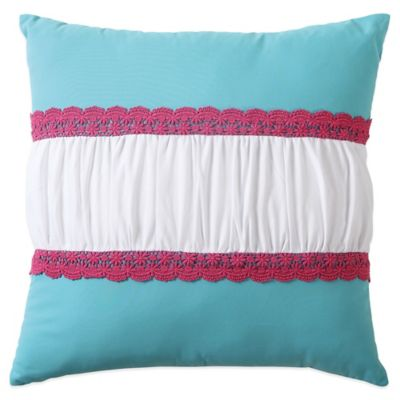 Amanda Crochet Square Throw Pillow in Multi
