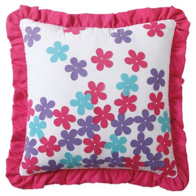 Amanda Applique Square Throw Pillow in Multi