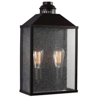 Feiss Lumiere Wall-Mount 19-Inch Outdoor Lantern in Oil Rubbed Bronze