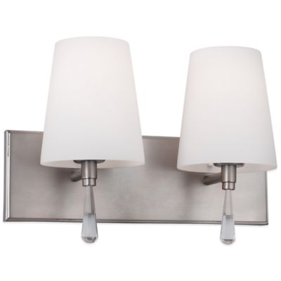 Feiss® Monica 2-Light Vanity Strip in Satin Nickel
