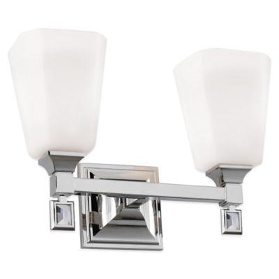 Feiss® Sophie 2-Light Vanity Strip in Polished Nickel