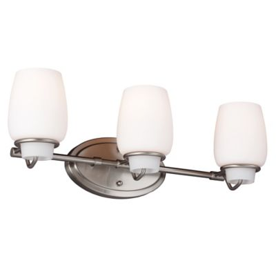 Feiss Colby 3-Light Wall-Mount Vanity Strip in Brushed Steel
