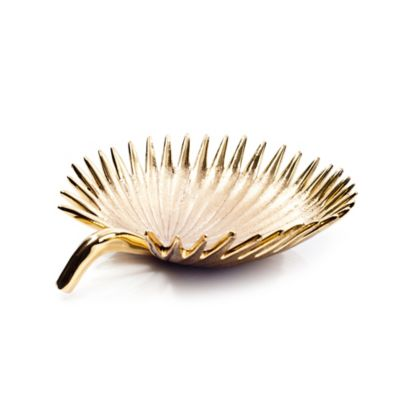 Brass Date Palm Leaf Small Bowl