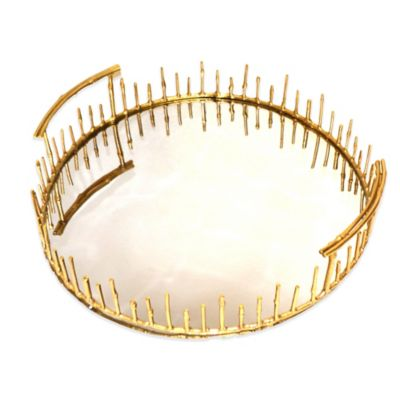 Rojo 16 Brunei Bamboo Reed Aluminum Decorative Tray