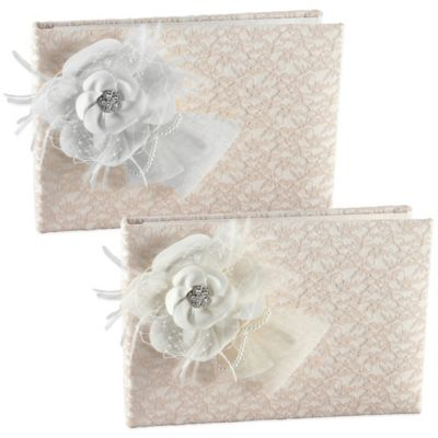 Ivy Lane Design™ Bianca Guest Book in Ivory