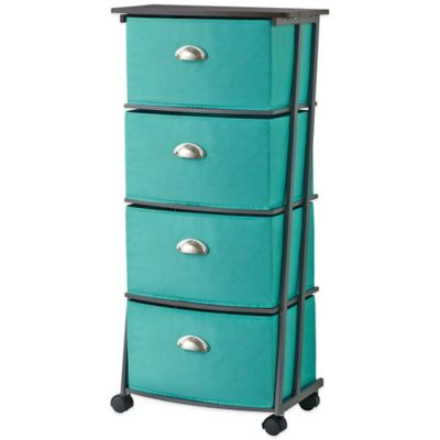 Studio 3B™ 4-Drawer Storage Cart in Aqua