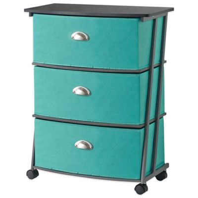 Studio 3B™ 3-Drawer Wide Storage Cart in Aqua