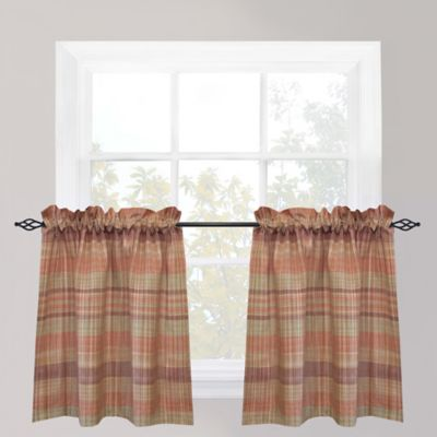 Park B. Smith Sumatra Café 24-Inch Window Curtain Tier Pair in Fresco