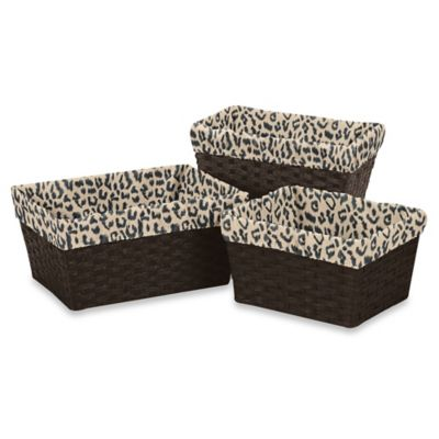 Sweet Jojo Designs Animal Safari Basket Liners (Set of 3)