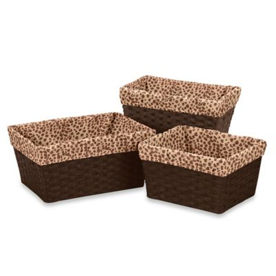 Sweet Jojo Designs Cheetah Girl 3-Piece Basket Liner Set