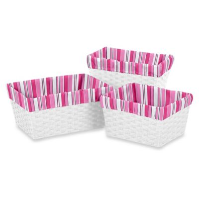 Sweet Jojo Designs Madison Basket Liners (Set of 3)