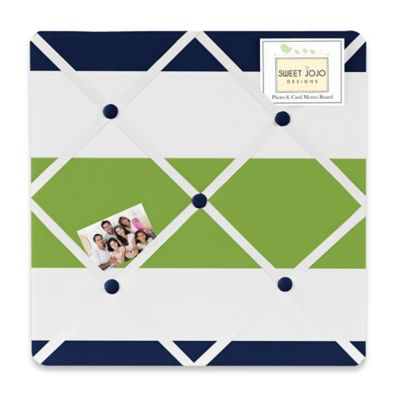 Sweet Jojo Designs Navy and Lime Stripe Memo Board