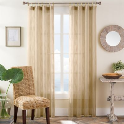 Bamboo Ring Top 63-Inch Window Curtain Panel in Taupe