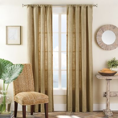 Merida 108-Inch Rod Pocket Window Curtain Panel in Natural