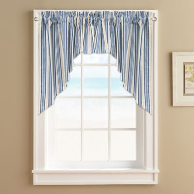 Ropes Window Curtain Swag Valance in Blue