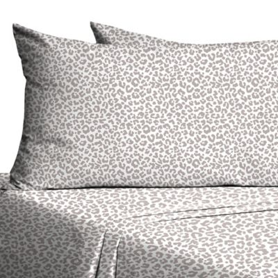 330 Thread Count Twin/Twin XL Sheet Set in Grey Leopard