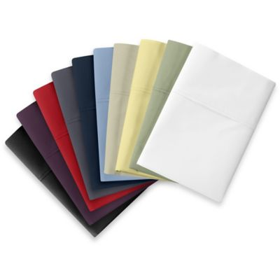 Wamsutta® Cool Touch Percale Dual King Fitted Sheets in Red