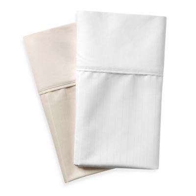 Wamsutta® 620-Thread-Count Egyptian Cotton Deep Pocket Full Sheet Set in White Stripe