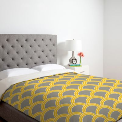 DENY Designs Caroline Okun Jaune Twin Duvet Cover in Yellow
