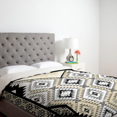 DENY Designs Maker Tribe Twin Duvet Cover in Grey