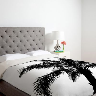 DENY Designs Deb Haugen B and W Square Queen Duvet Cover
