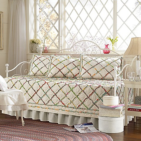 laura ashley ruffle garden daybed bedding set bed bath. Black Bedroom Furniture Sets. Home Design Ideas