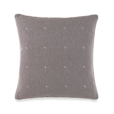 Nautica® Longitude Quilted Square Throw Pillow in Mineral