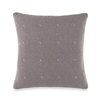 Nautica® Longitude Quilted Square Throw Pillow in Mocha