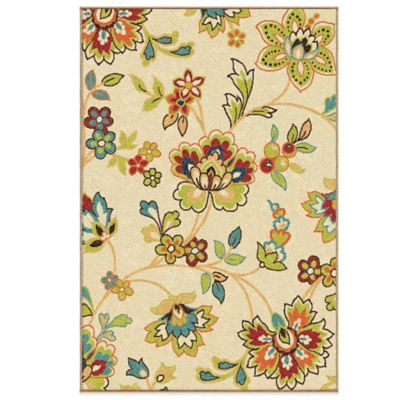 Aria Rugs Veranda Collection 2-Foot 3-Inch x 8-Foot Walters Runner in White