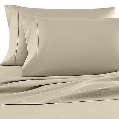 buy wamsutta 620 egyptian cotton deep pocket queen sheet set in sage from bed bath beyond. Black Bedroom Furniture Sets. Home Design Ideas