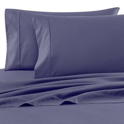 Wamsutta® 620 Egyptian Cotton Deep Pocket Twin Sheet Set in Blue Jean