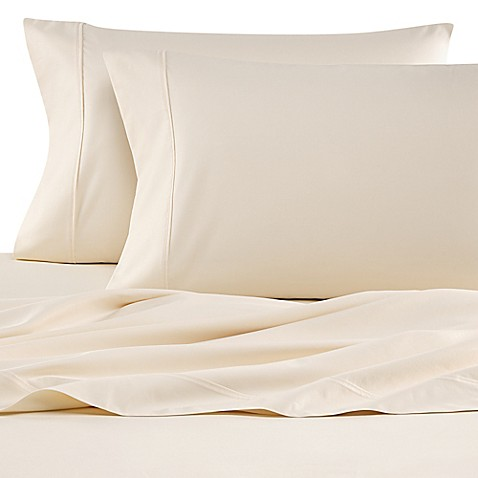 buy wamsutta 620 egyptian cotton deep pocket queen sheet set in ivory from bed bath beyond. Black Bedroom Furniture Sets. Home Design Ideas
