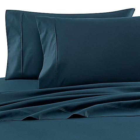 buy wamsutta 620 egyptian cotton deep pocket queen sheet set in emerald from bed bath beyond. Black Bedroom Furniture Sets. Home Design Ideas