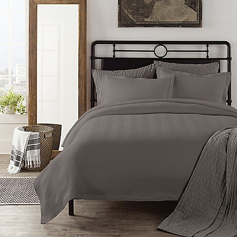 Buy Lamont Home Chevron Twin Coverlet In Charcoal From Bed