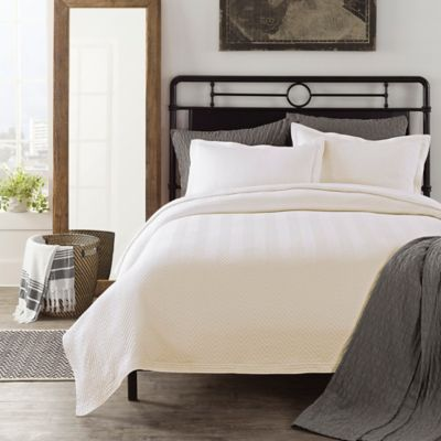 LaMont Home Chevron Twin Coverlet in Ivory