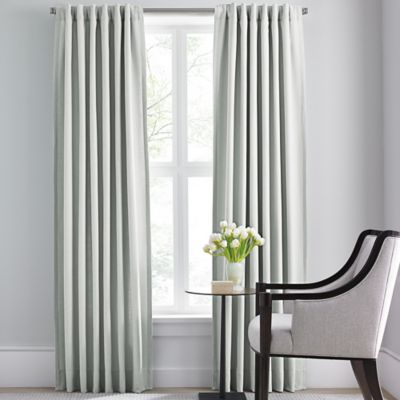 Barbara Barry Modern Drape Rod Pocket/Back Tab 63-Inch Window Curtain Panel in Silver