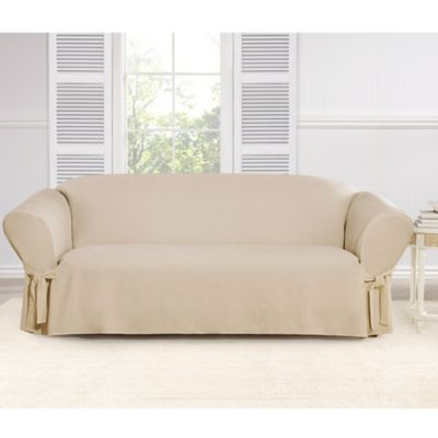 Sure Fit® Everyday Chenille 1-Piece Sofa Slipcover in Chocolate