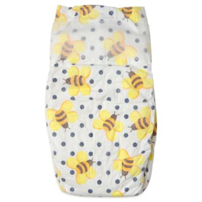 Honest 34-Pack Size 3 Diapers in Bees Pattern
